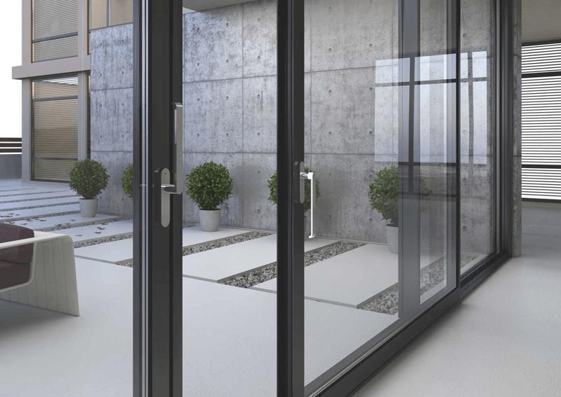 раздвижные окна цветной профиль красноярск